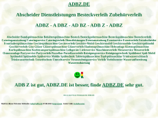 Screenshot der Domain adbz.de