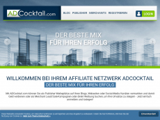 Screenshot der Domain adcocktail.de