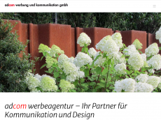 Screenshot der Domain adcom-werbeagentur.de