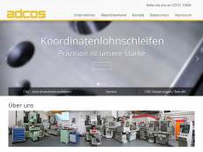 Screenshot der Domain adcos-cnc.de