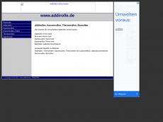 Screenshot der Domain addirolle.de
