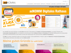 Screenshot der Domain adkomm.de