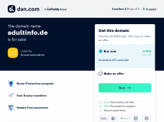 Screenshot der Domain adultinfo.de