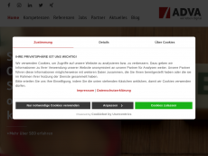 Screenshot der Domain adva.de