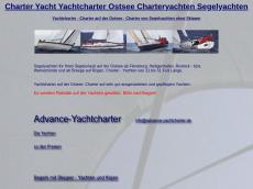 Screenshot von advance-yachtcharter.de