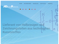 Screenshot der Domain advancedplastics.de