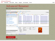 Screenshot der Domain advancedrenamer.com