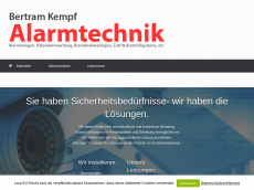 Screenshot der Domain alarmtechnik-kempf.de