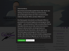 Screenshot der Domain alexmiller.de