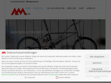 Screenshot der Domain alexmoulton.com
