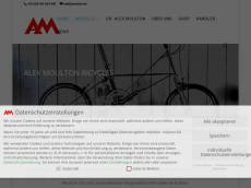 Screenshot der Domain alexmoulton.de