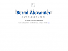 Screenshot der Domain alexra.de