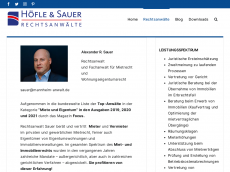 Screenshot der Domain alexsauer.de
