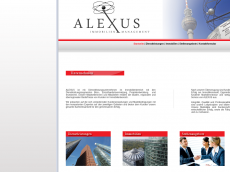 Screenshot der Domain alexus-immobilien.de