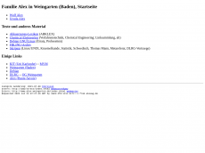 Screenshot der Domain alexwg.de