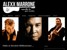 Screenshot der Domain alexxmarrone.de