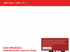 Screenshot der Domain alfa-classic-club.de