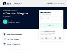 Screenshot von alfa-consulting.de