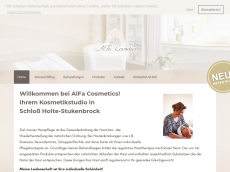 Screenshot der Domain alfa-cosmetics.de
