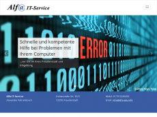 Screenshot der Domain alfa-edv.info