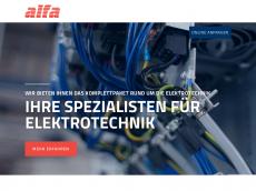 Screenshot der Domain alfa-elektrotechnik.de