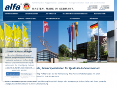 Screenshot der Domain alfa-fahnenmasten.biz