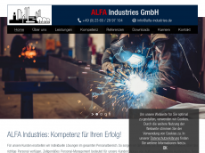 Screenshot von alfa-industries.de