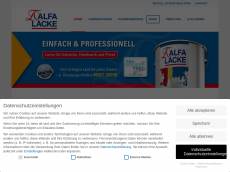Screenshot der Domain alfa-lack.de
