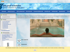 Screenshot der Domain alfa-pool.de
