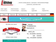 Screenshot der Domain alfshop.de