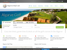 Screenshot der Domain algarvegolf.net