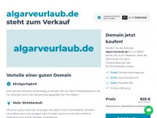 Screenshot der Domain algarveurlaub.de