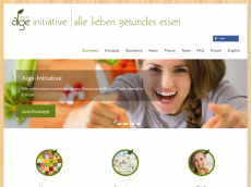 Screenshot der Domain alge.de