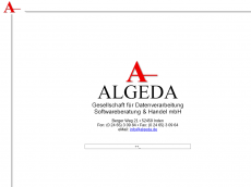 Screenshot der Domain algeda.de