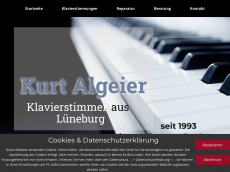 Screenshot der Domain algeier.de