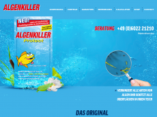 Screenshot der Domain algen-killer.de