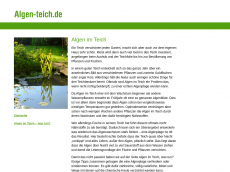 Screenshot von algen-teich.de