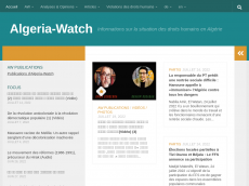 Screenshot der Domain algeria-watch.org