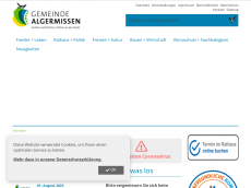 Screenshot der Domain algermissen.de