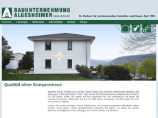 Screenshot der Domain algesheimer-bau.de