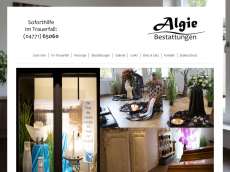 Screenshot der Domain algie.de