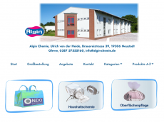 Screenshot der Domain algin-chemie.de