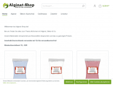 Screenshot der Domain alginat-shop.de