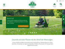 Screenshot der Domain alginure.de