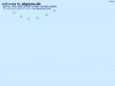 Screenshot der Domain algorex.de