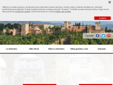 Screenshot der Domain alhambradegranada.org