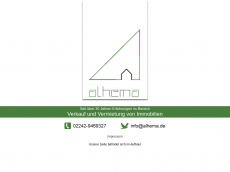 Screenshot der Domain alhema.de