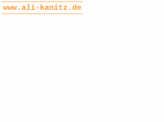 Screenshot der Domain ali-kanitz.de
