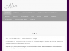 Screenshot der Domain alia-institut.de