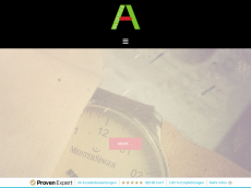 Screenshot der Domain aliamos.de